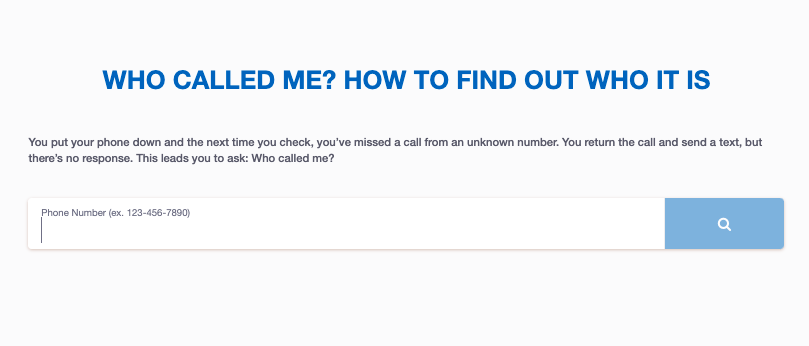 Using Kiwi Searches to Find a Phone Number