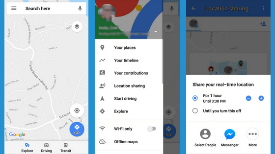 Google Maps undetectable spy app for android