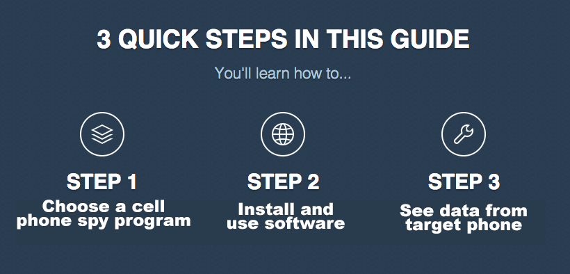 3 quick steps in this guide for use Spy Apps